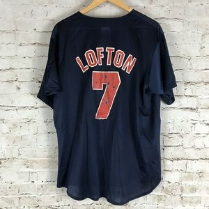 Majestic Shirts - VTG Kenny Lofton Jersey Size XL Majestic 1994